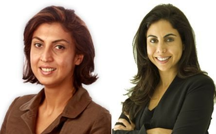 Nisaba Godrej and Tanya Dubash