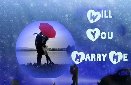 "Frame a ""Marry Me"" Card"