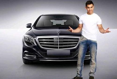 Aamir Khan with Mercedes Benz S600