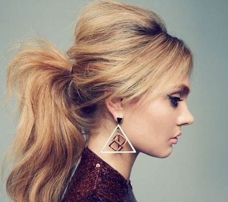 Low and Messy Ponytail