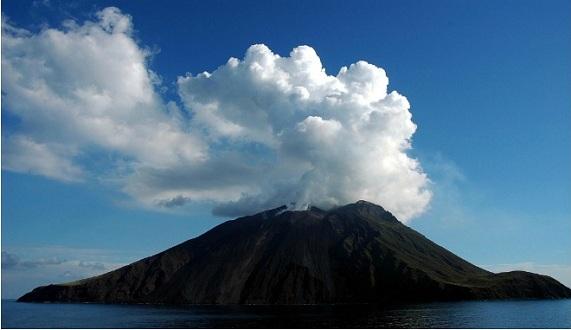 The Black Lava Volcano