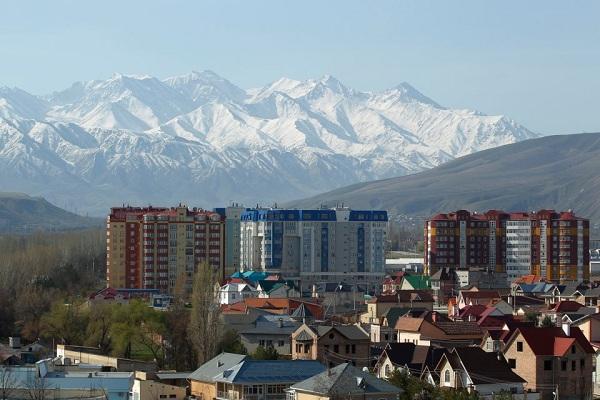 Bishkek City in Kyrgyzstan