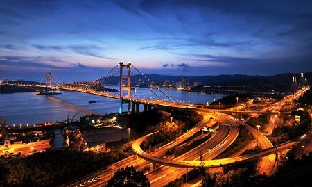 Tsing Ma Bridge - Hong Kong, China