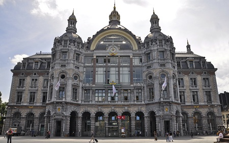 Antwerp Central Station in Belgium