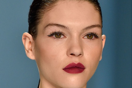 A skinny cat-eye with a side of bejeweled lashes
