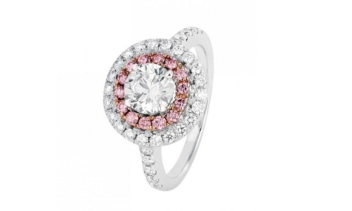 Argyle Jewelers Pink Pearl Cut Engagement Ring