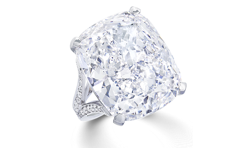 Emerald Cut Diamond Engagement Ring from Graff