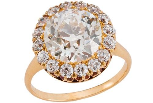 Fred Leighton Vintage Engagement Ring of Diamond