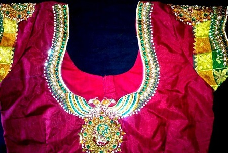 Maggam and Stone Work Blouse Designs