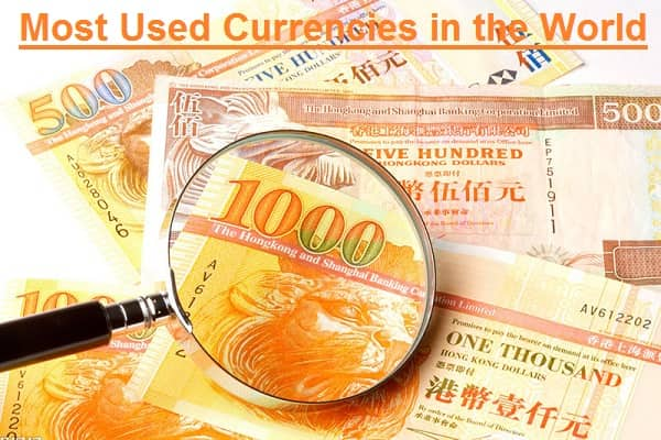 Most Used Currencies