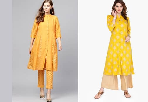Gold and Mustard kurta
